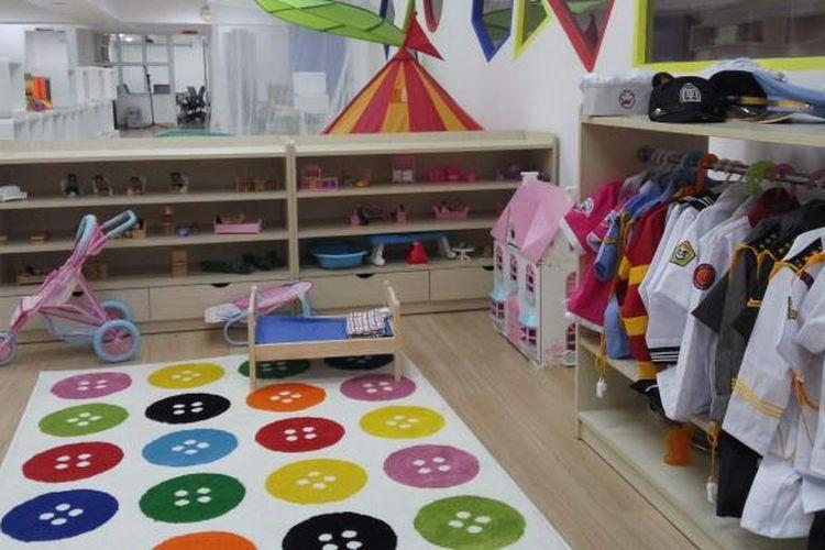 Pendidikan Anak Usia Dini (Paud) Km 0 (Nol) di Kementerian Pendidikan dan Kebudayaan saat dikunjungi Kompas.com, Rabu (22/6/2016).