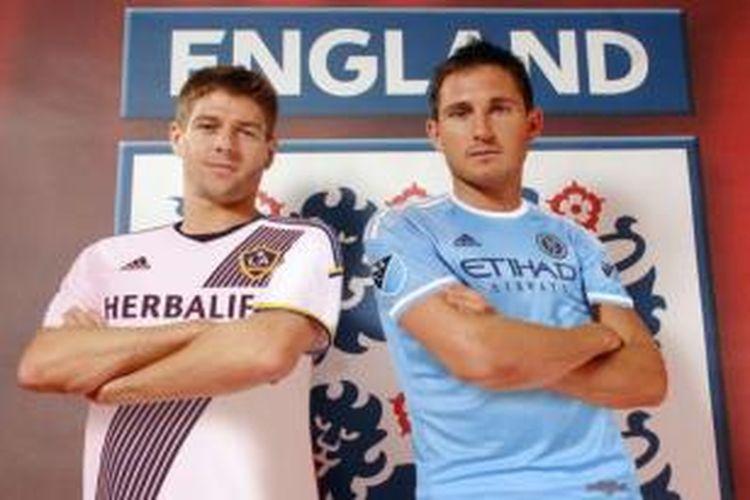Steven Gerrard (LA Galaxy) dan Frank Lampard (New York City FC)