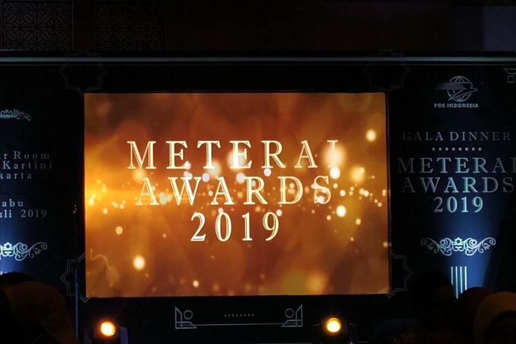 PT Pos Indonesia (Persero) menyelenggarakan Meterai Award 2019 sebagai bentuk apresiasi kepada perusahaan dan mitranya yang berlangsung di Balai Kartini, Jakarta, Rabu (24/7/2019) malam.