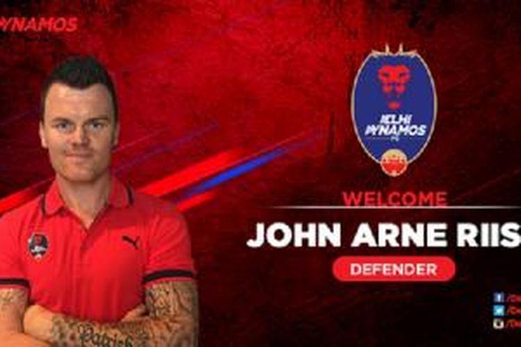 Pemain baru Delhi Dynamos FC, John Arne Riise.