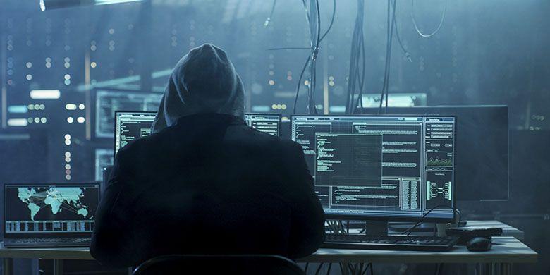 Ilustrasi ancaman kejahatan siber