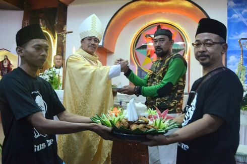 Pesan Damai di Balik Kehadiran Banser dan Gusdurian Saat HUT Gereja Katolik di Majenang