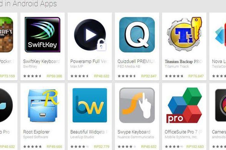 Kini, Google Play Store sudah mendukung mata uang Rupiah