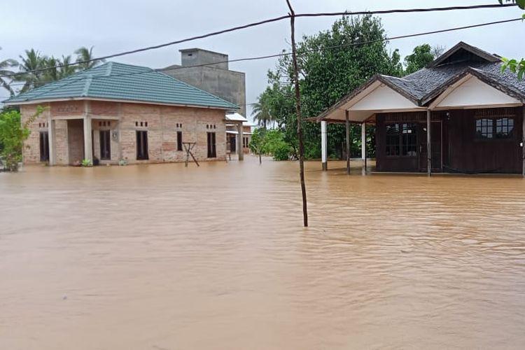 Banjir yang terjadi di Kalimantan Selatan (Kalsel) pada Kamis (15/1/2021)