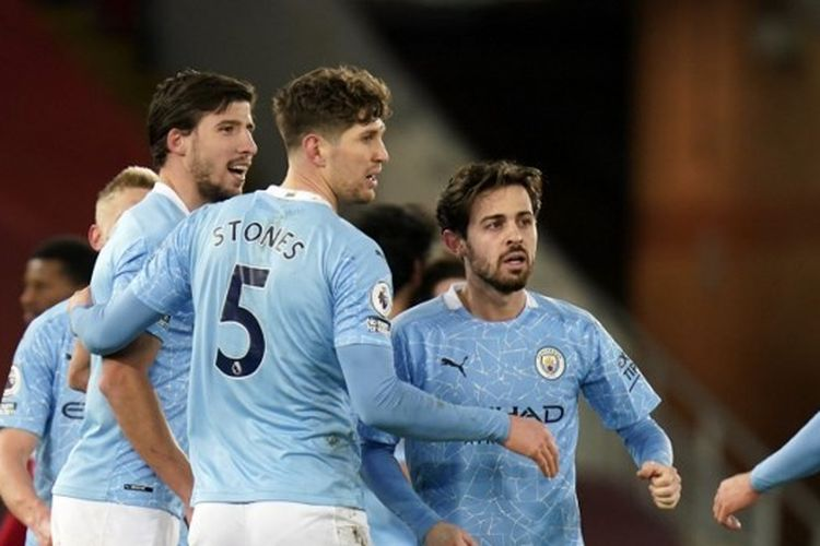 Manchester City menghancurkan juara bertahan Liga Inggris, Liverpool, 4-1 di Stadion Anfield pada Minggu (7/2/2021) malam WIB.