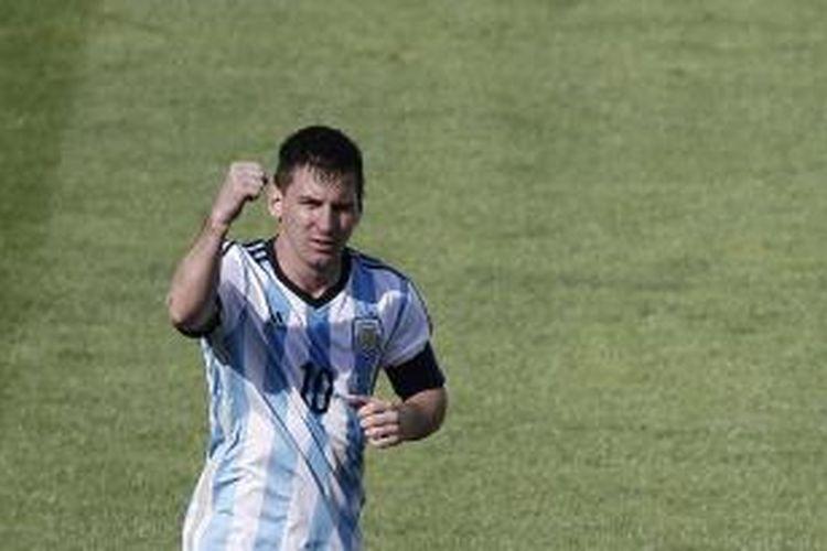 Penyerang Argentina, Lionel Messi.