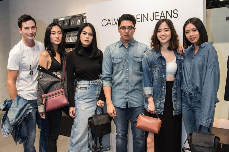 Kemeriahan pembukaan toko perdana Calvin Klein Jeans.