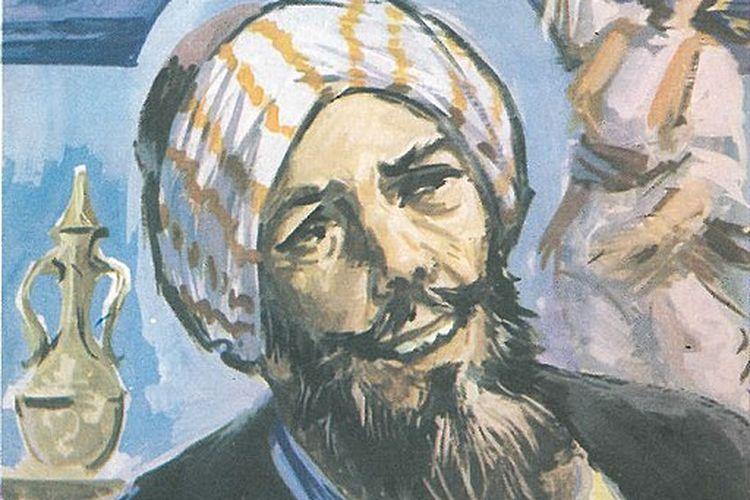 Foto sampul yang dipindai dari buku yang pertama kali diterbitkan di Mesir pada tahun 1968, berjudul: I'tirafat Abu Nawas (Confessions of Abu Nuwas), yang ditulis oleh Kamel Al-Shennawi (1908-1965).