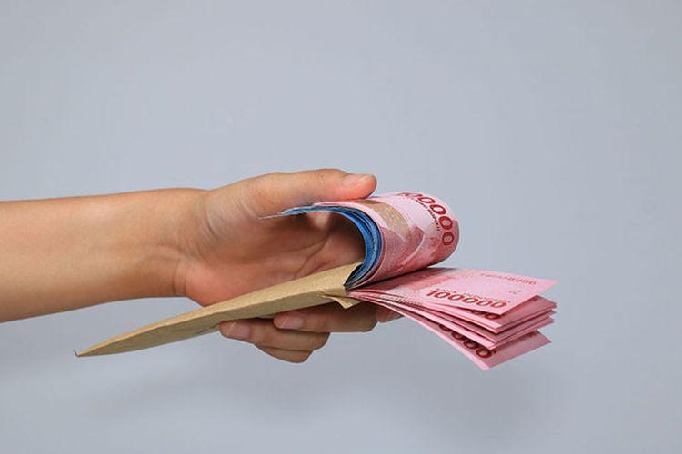 Ilustrasi uang pinjaman.