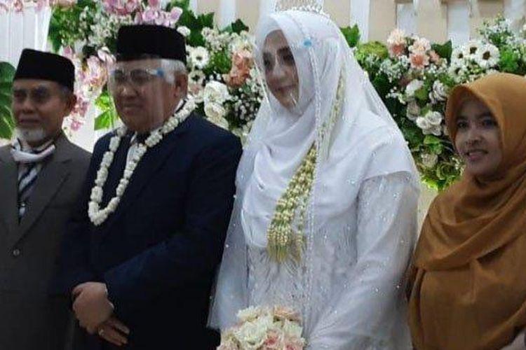 Pernikahan Din Syamsuddin dan Rashda Diana di Pondok Modern Darussalam Gontor, Ponorogo, Minggu (3/1/2020)