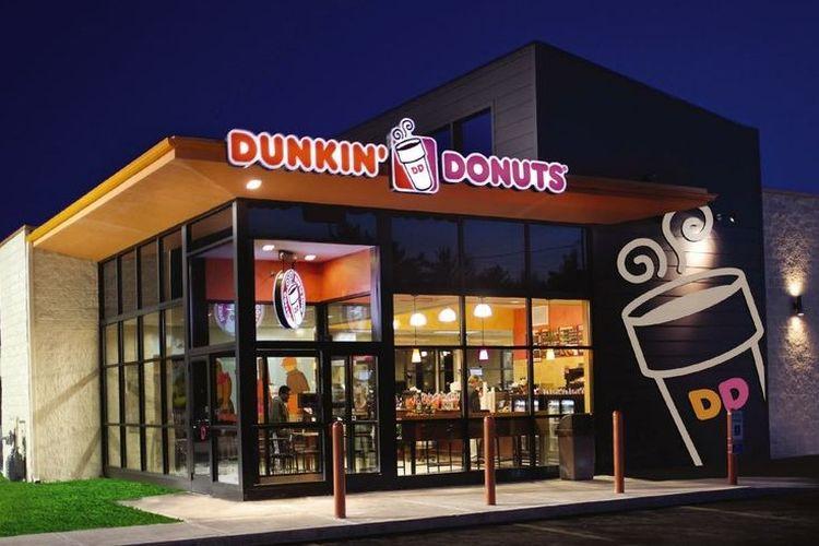 Ilustrasi gerai Dunkin Donuts.