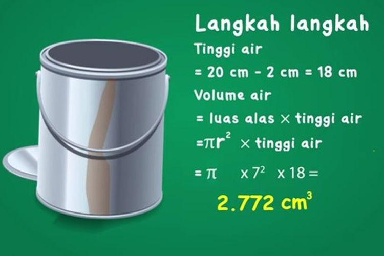 Jawaban contoh soal volume tabung.