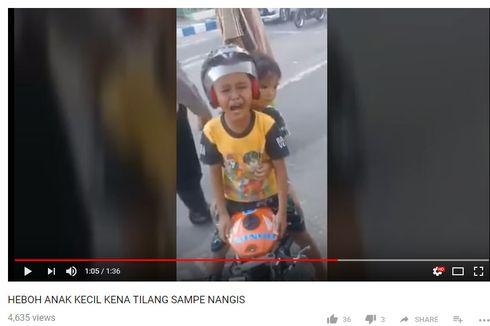 [KLARIFIKASI] Viral, Video Bocah TK Naik Motor dan Menangis Saat Ditilang Polisi