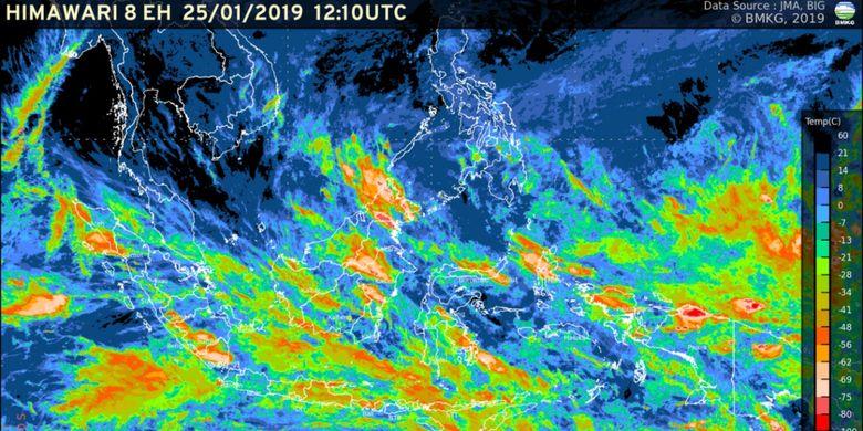 Pantauan Satelit Himawari, Jumat 25 Januari 2019.