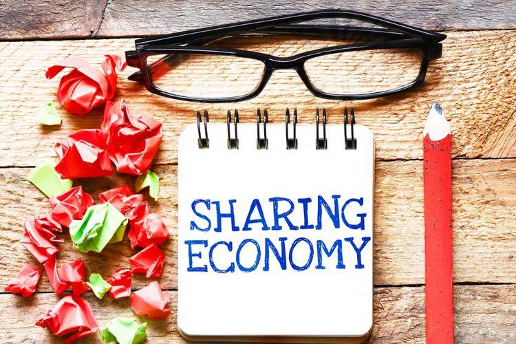 Ilustrasi ekonomi berbagi (sharing economy)