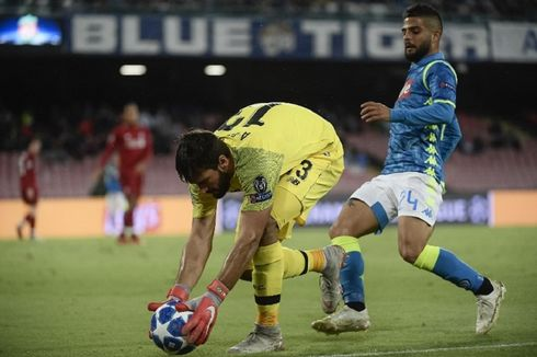 Hasil Napoli Vs Liverpool, Gol Larut Insigne Tentukan Kemenangan