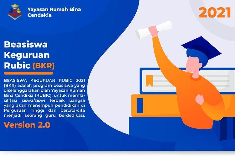 Informasi Beasiswa Keguruan Rubic (BKR) 2021 bagi mahasiswa baru dan mahasiswa lama.