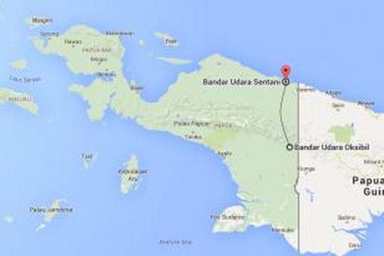Pesawat ATR 42 milik Trigana Air hilang kontak dalam penerbangan dari Bandara Sentani (Jayapura) ke Oksibil, Minggu (16/8/2015).