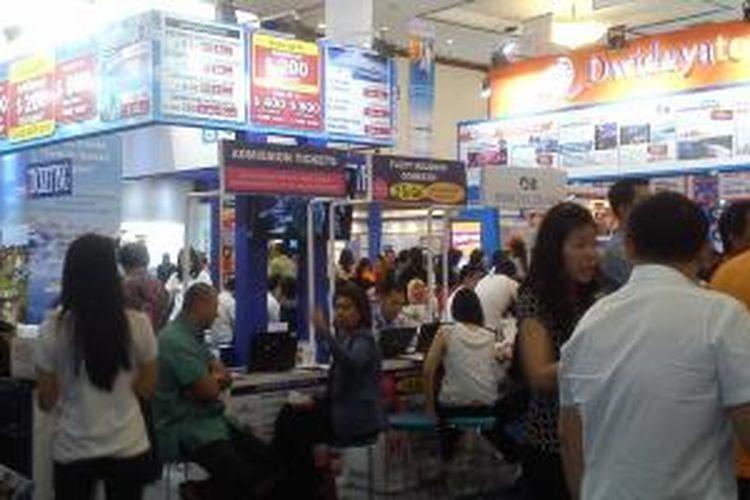 Garuda Indonesia Travel Fair (GITF) di Jakarta Convention Center berlangsung 11-13 April 2014.