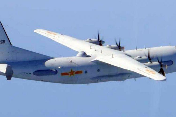 Pesawat angkut militer Shaanxi Y-9 milik China.
