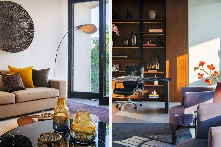 Interior mid century modern RL Residence karya Michael Lauw Studio.