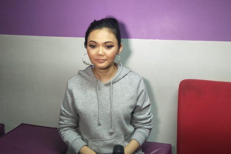 Presenter Rina Nose saat ditemui di kawasan Mampang, Jakarta Selatan, Kamis (30/5/2019).