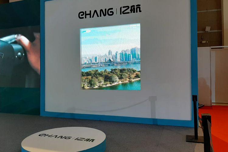 Prestige Image Motorcars memperkenalkan mobil terbang EHang di IIMS Hybrid 2021, Jumat (16/4/2021)