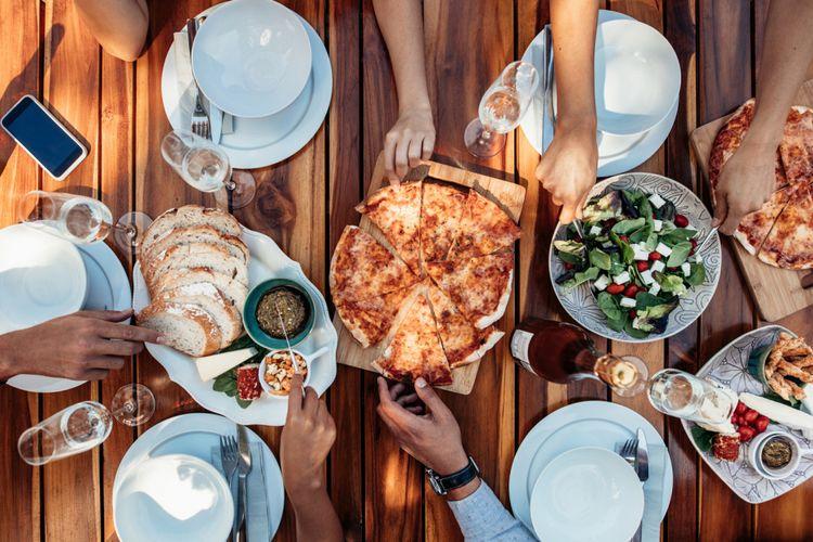 Ilustrasi makan