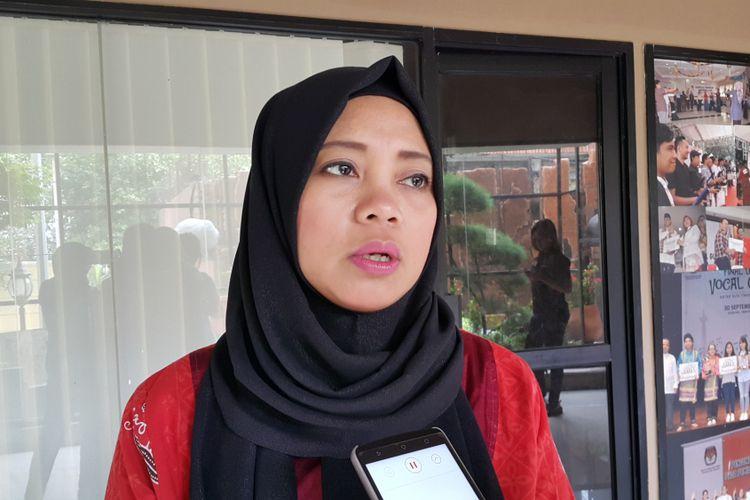 Komisioner KPU DKI Jakarta Dahliah Umar di Kantor KPU DKI, Jalan Salemba Raya, Jakarta Pusat, Selasa (4/4/2017).