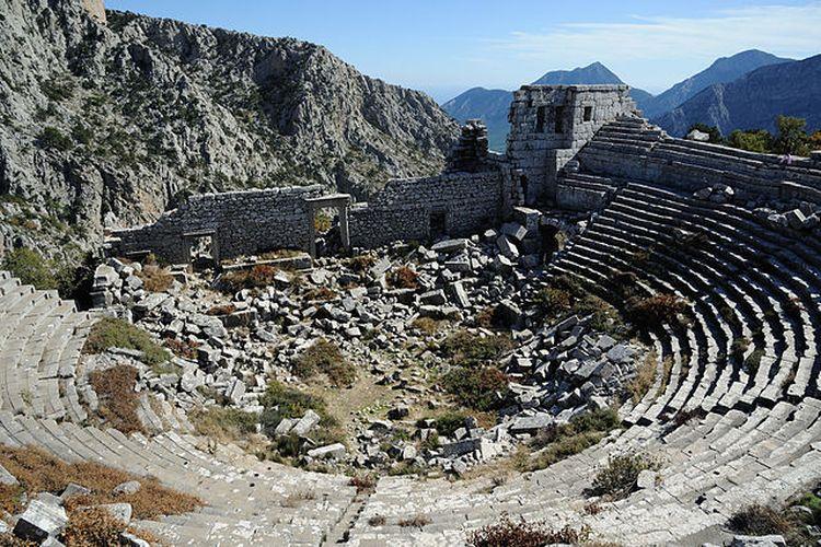 Kota Termessos, Turki yang hilang. [Via Wikimedia Commons]