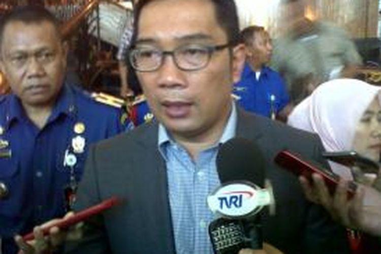 Wali Kota Bandung Ridwan Kamil saat ditemui di Hotel Grand Royal Panghegar, Jalan Merdeka, Selasa (15/12/2015). Dia meminta agar para pengusaha hiburan di Bandung selalu taat aturan.