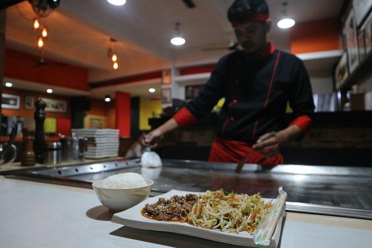 Slice Beef Teppanyaki ala Hoshi ini hanya seharga Rp 20 ribu