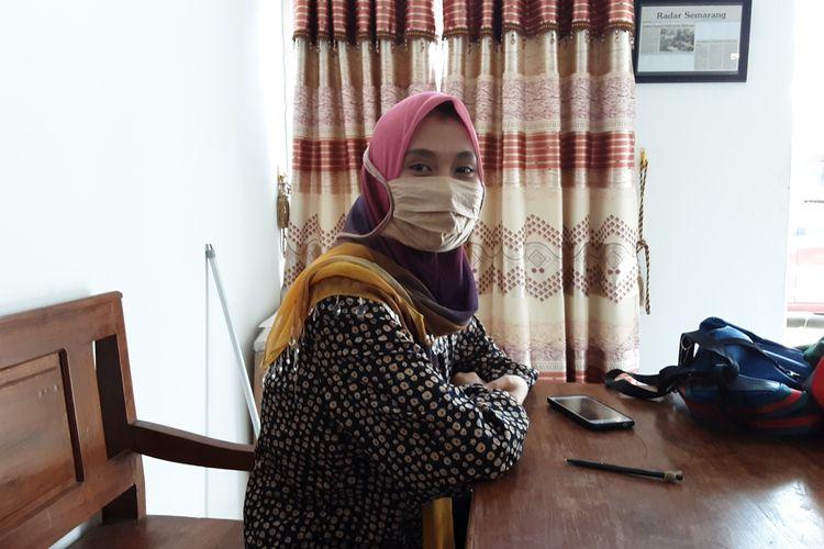 Titik Puji Rahayu, korban teror orderfiktif di Kendal. KOMPAS.COM/SLAMET PRIYATIN