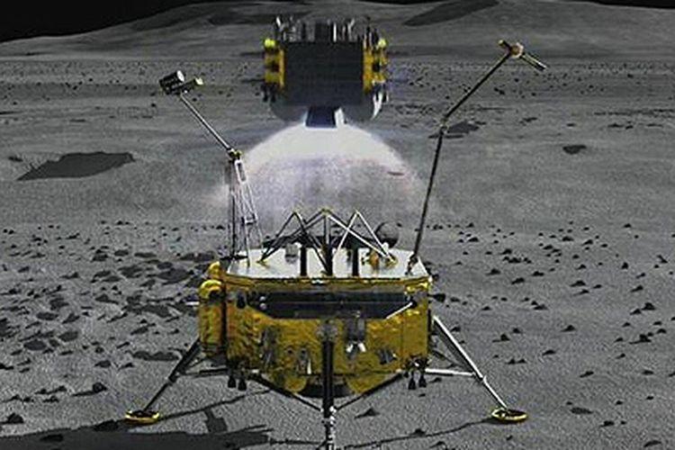 Misi Change 5 milik China. Direncanakan akan mengeksplorasi Oceanus Procellarum. Kawasan luas di tepi barat sisi dekat Bulan.