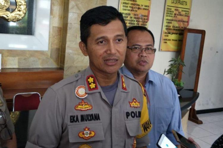 Wakapolres Metro Bekasi Kota, AKBP Eka Mulyana di Mapolres Metro Bekasi Kota, Rabu (13/2/2019).