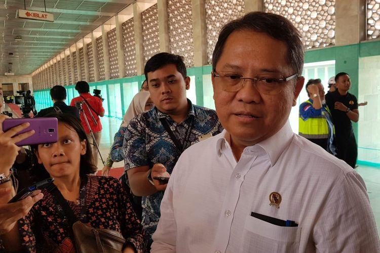 Menkominfo Rudiantara saat berada di Masjid Istiqlal, Jakarta Pusat, Kamis (22/8/2019).