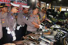 Puluhan Motor Modifikasi Disita Polisi Jelang Malam Tahun Baru