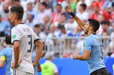 Babak 1, Uruguay Unggul 2-0 atas 10 Pemain Rusia