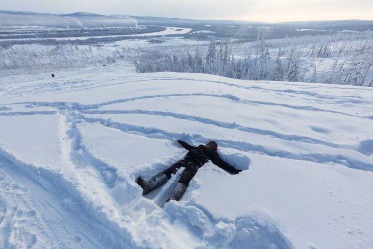 Desa Verkhoyansk, di Rusia timur, di sini suhu -60 derajat Celsius adalah hal yang lumrah.