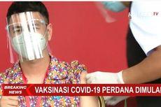 Nagita Ajak Tonton Raffi Ahmad Divaksin Covid-19, Rafathar Tidur