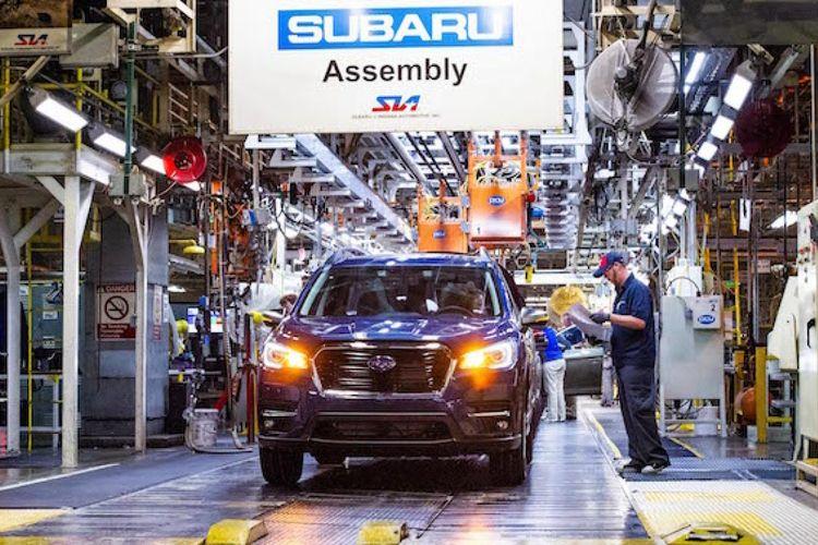 Ilustrasi pabrik mobil Subaru di Indiana, AS.