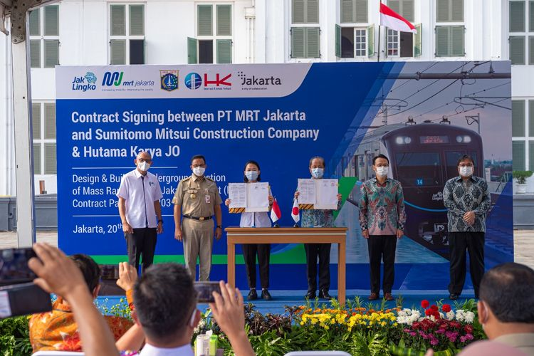 Penandatanganan Paket Kontrak CP203 Fase 2A MRT Senilai 4,6 Triliun Kerjasama MRT Jakarta dan Jepang