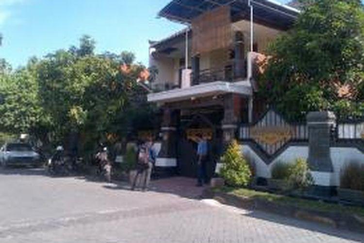 Rumah diduga pelaku penabrak siswa SMU Hang Tuah II Sidoarjo.