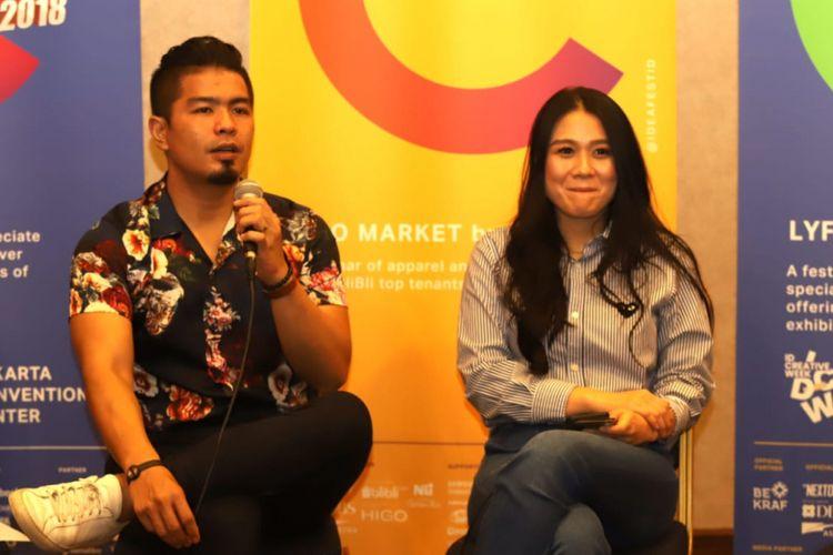 Bams dan istri menjadi pembicara dalam Ideafest yang digelar pada 26-27 Oktober 2018, di Jakarta Convention Center (JCC).