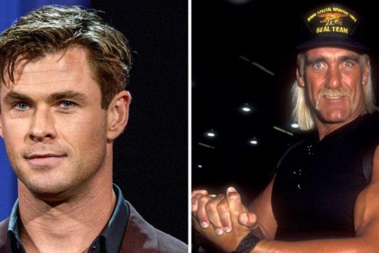 Chris Hemsworth dan pegulat legendaris Hulk Hogan.