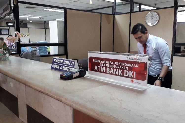 Pimpinan Cabang Bank DKI Daan Mogot Jakarta Barat mengatakan pada Selasa (27/3/2018), pihaknya akan segera membuka loket khusus pembayaran non tunai yang memudahkan pembayar pajak kendaraan dan lainnya.