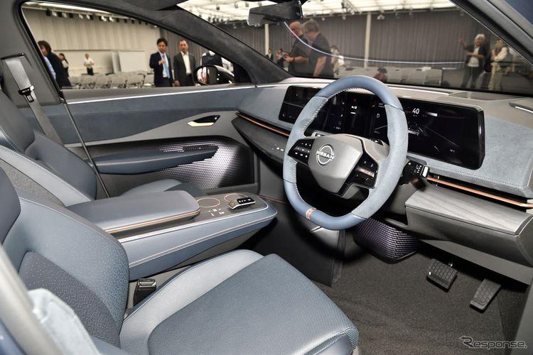 Tampak interior dan dasbor Nissan Ariya versi konsep