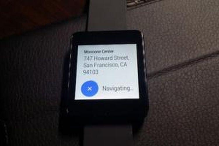 Google Maps berjalan di perangkat Android Wear