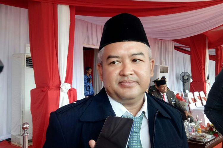Adik Wali Kota Tangerang Selatan Airin Rachmi Diany, Aldrin Ramadian usai upacara 17 Agustus 2019 di Lapangan Cilenggang, Serpong, Tangerang Selatan, Sabtu (17/8/2019).