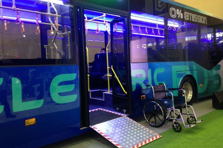 Bus listrik milik PT Mobil Anak Bangsa .